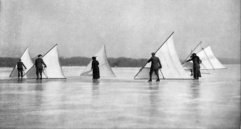 people skate sailing